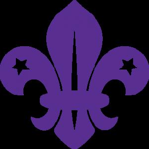 Scout Fleur de Lis Purple